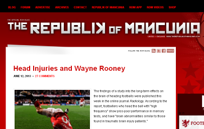 Wayne Rooney and Head Injuries