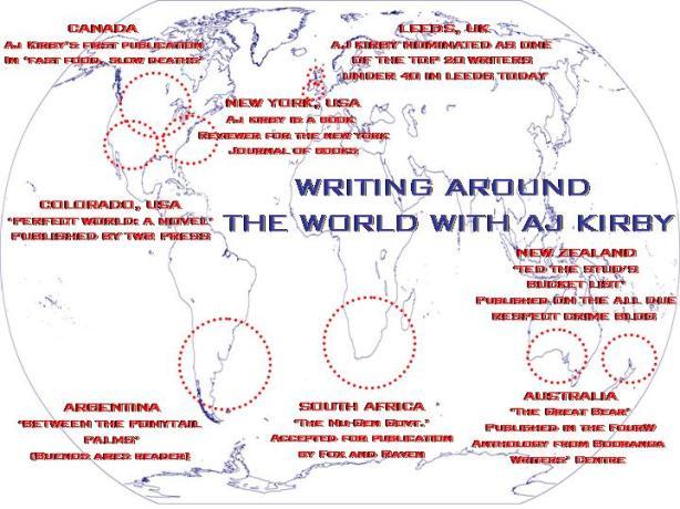 WRITING AROUND THE WORLD WITH AJ KIRBY