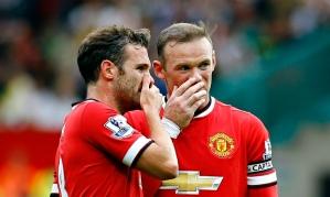 Wayne Rooney and Juan Mata